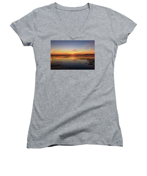 Women's V-Neck T-Shirt (Junior Cut) featuring the photograph Slave To Your Mind by Thierry Bouriat
