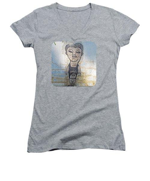 Small Potato Women's V-Neck T-Shirt (Junior Cut) by Ethna Gillespie