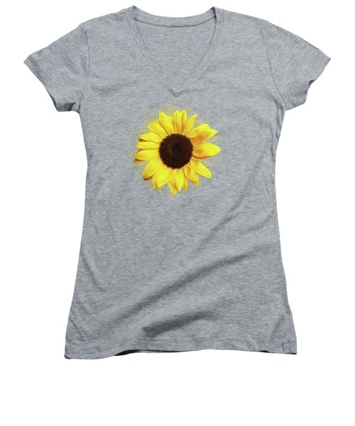 Sunlover Women's V-Neck T-Shirt (Junior Cut) by Gill Billington