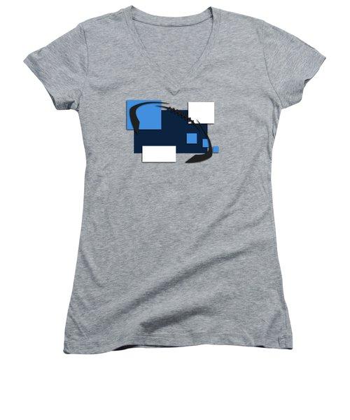 Tennessee Titans Abstract Shirt Women's V-Neck T-Shirt (Junior Cut) by Joe Hamilton