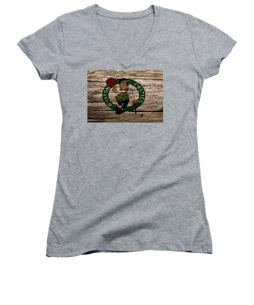 The Boston Celtics W1 Women's V-Neck T-Shirt (Junior Cut) by Brian Reaves