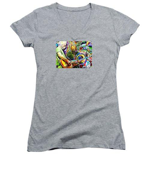 The Boys Of Summer Women's V-Neck T-Shirt (Junior Cut) by Kevin J Cooper Artwork