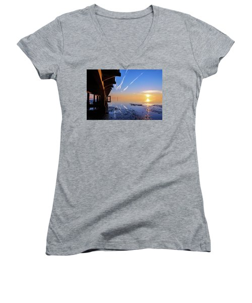 Women's V-Neck T-Shirt (Junior Cut) featuring the photograph The Chosen by Thierry Bouriat