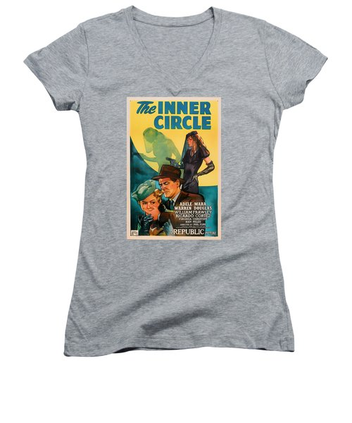 The Inner Circle 1946 Women's V-Neck T-Shirt (Junior Cut) by Mountain Dreams
