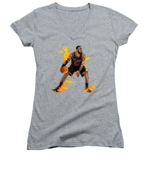 The King James Women's V-Neck T-Shirt (Junior Cut) by Akyanyme