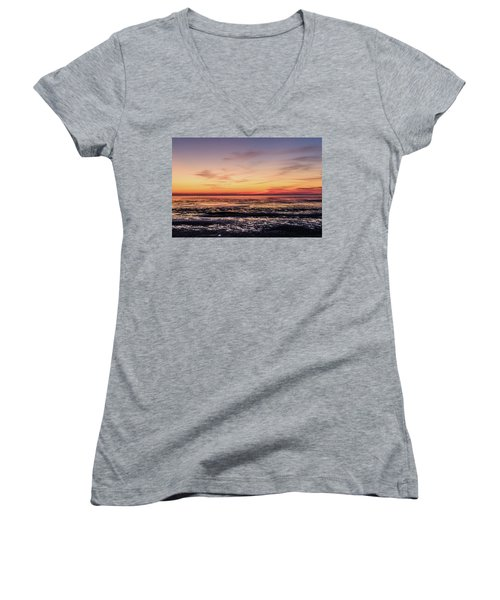 Women's V-Neck T-Shirt (Junior Cut) featuring the photograph The Other World by Thierry Bouriat