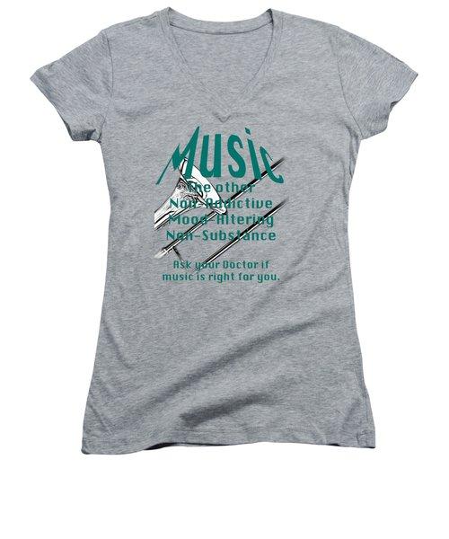 Trombone Music Is Right For You 5495.02 Women's V-Neck T-Shirt (Junior Cut) by M K  Miller