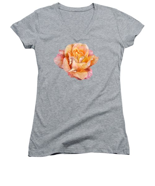 Unicorn Rose Women's V-Neck T-Shirt (Junior Cut) by Carol Cavalaris