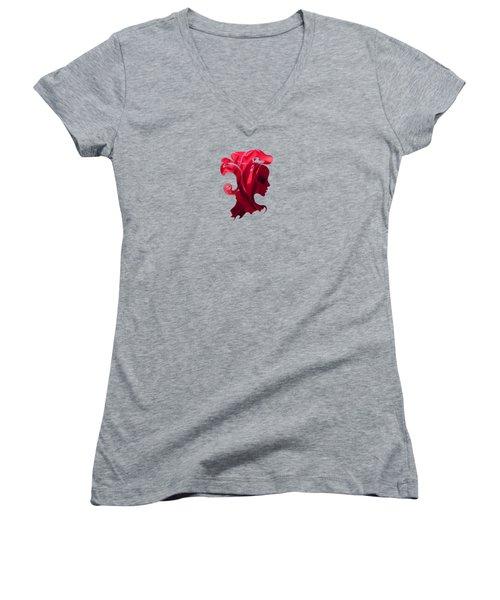 Flower Art Venice M6  Women's V-Neck T-Shirt (Junior Cut) by Johannes Murat