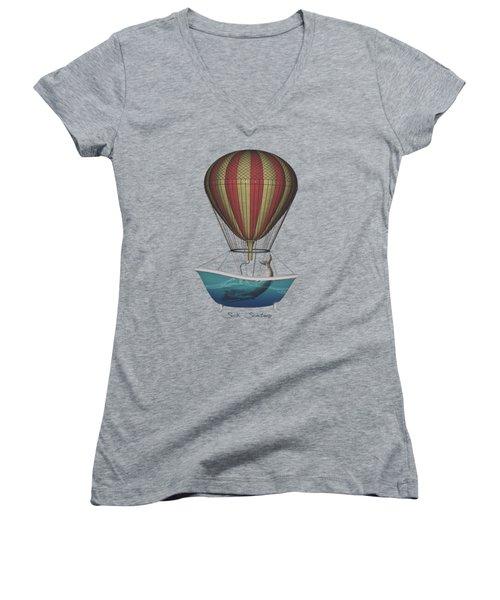Seek Sanctuary Women's V-Neck T-Shirt (Junior Cut) by Galen Valle