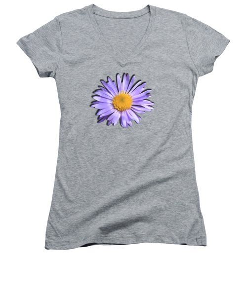 Wild Daisy Women's V-Neck T-Shirt (Junior Cut) by Shane Bechler