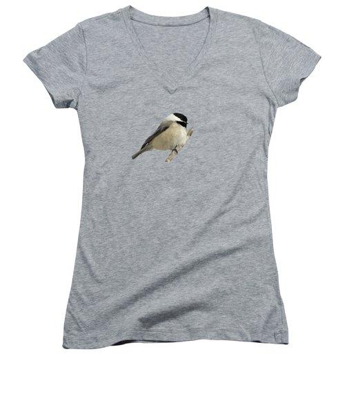 Willow Tit Women's V-Neck T-Shirt (Junior Cut) by Bamalam  Photography