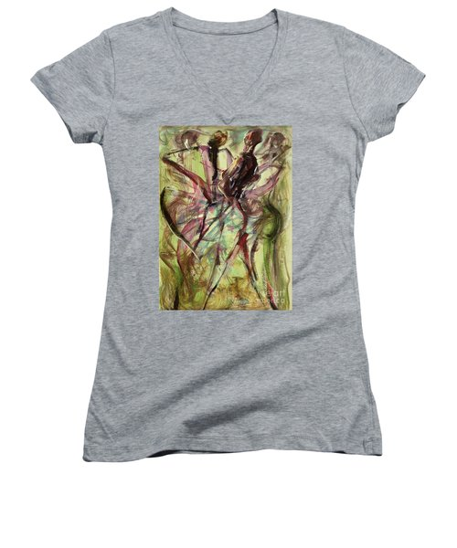 Windy Day Women's V-Neck T-Shirt (Junior Cut) by Ikahl Beckford