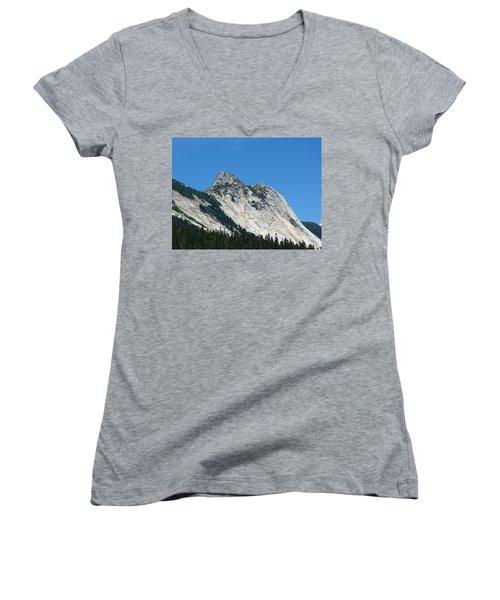 Yak Peak Women's V-Neck T-Shirt (Junior Cut) by Will Borden