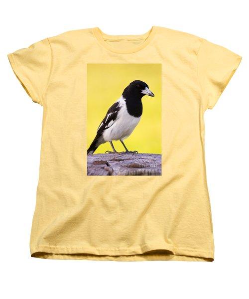 Fencepost Magpie Women's T-Shirt (Standard Cut) by Jorgo Photography - Wall Art Gallery