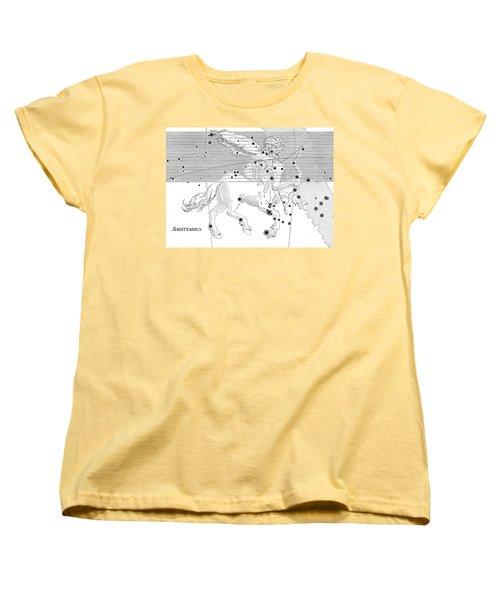 Sagittarius Constellation Zodiac Sign Women's T-Shirt (Standard Cut) by Science Source