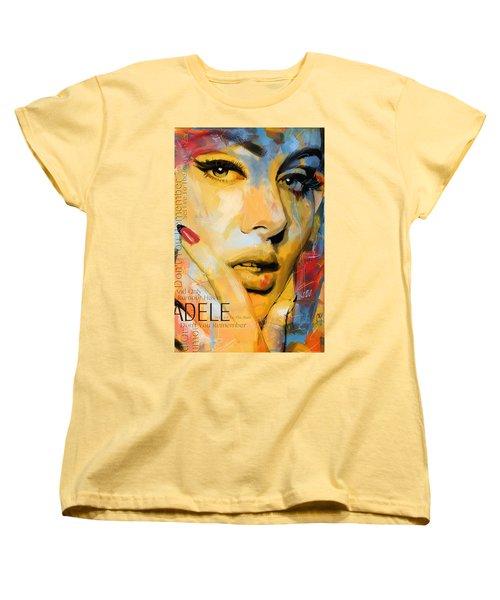 Adele Women's T-Shirt (Standard Cut) by Corporate Art Task Force