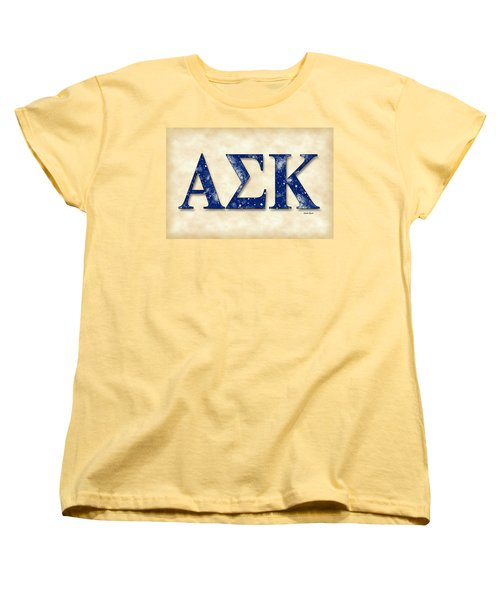 Alpha Sigma Kappa - Parchment Women's T-Shirt (Standard Cut) by Stephen Younts