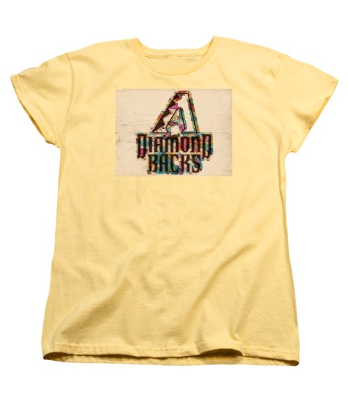 Arizona Diamondbacks Poster Vintage Women's T-Shirt (Standard Cut) by Florian Rodarte