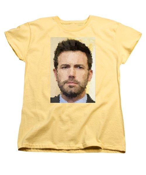 Ben Affleck Portrait Women's T-Shirt (Standard Cut) by Samuel Majcen