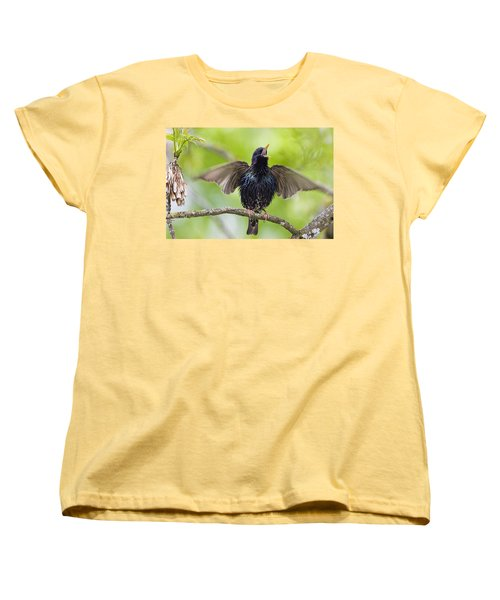Common Starling Singing Bavaria Women's T-Shirt (Standard Cut) by Konrad Wothe
