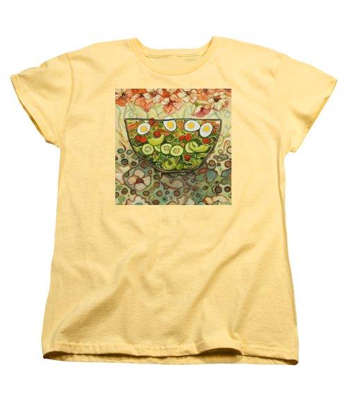 Cool Summer Salad Women's T-Shirt (Standard Cut) by Jen Norton