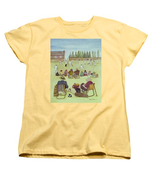 Cricket On The Green, 1987 Watercolour On Paper Women's T-Shirt (Standard Cut) by Gillian Lawson