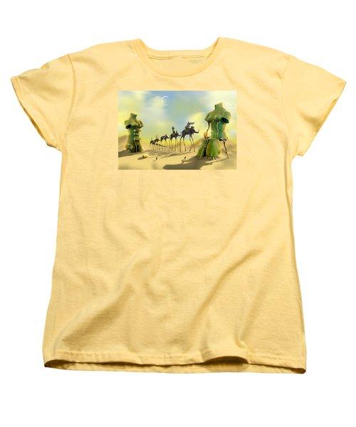 Dali On The Move  Women's T-Shirt (Standard Cut) by Mike McGlothlen