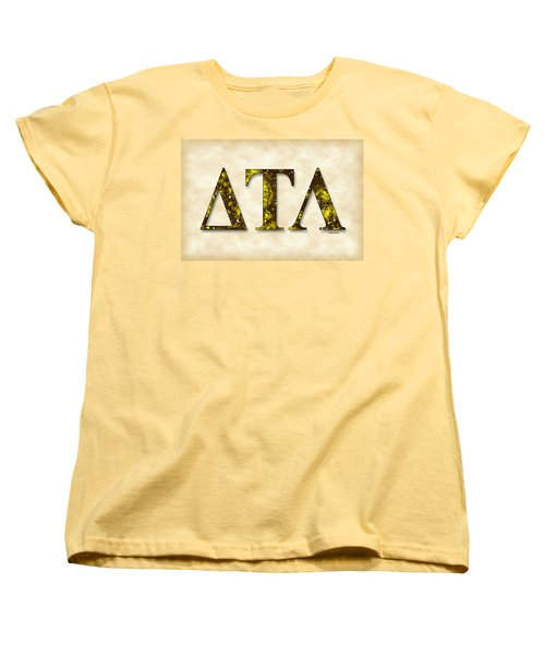 Delta Tau Lambda - Parchment Women's T-Shirt (Standard Cut) by Stephen Younts