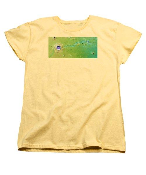 Women's T-Shirt (Standard Cut) featuring the photograph Hephaestus Fossae, Mars by Science Source