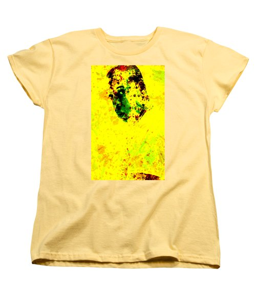 Jay Z Paint Splash Women's T-Shirt (Standard Cut) by Brian Reaves
