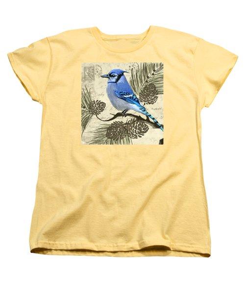 Jeweled Blue Women's T-Shirt (Standard Cut) by Lourry Legarde