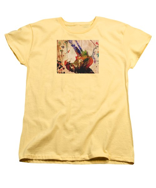 Jimmy Page - Led Zeppelin Women's T-Shirt (Standard Cut) by Ryan Rock Artist