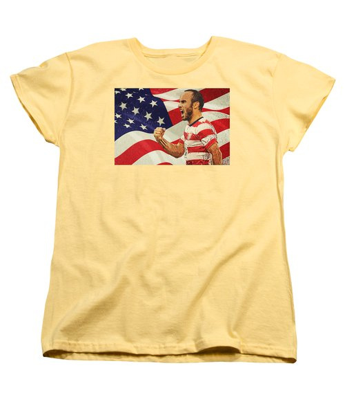 Landon Donovan Women's T-Shirt (Standard Cut) by Taylan Apukovska