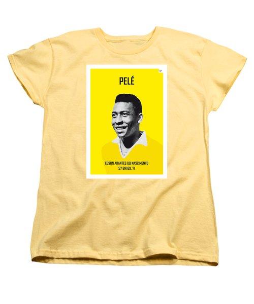 My Pele Soccer Legend Poster Women's T-Shirt (Standard Cut) by Chungkong Art