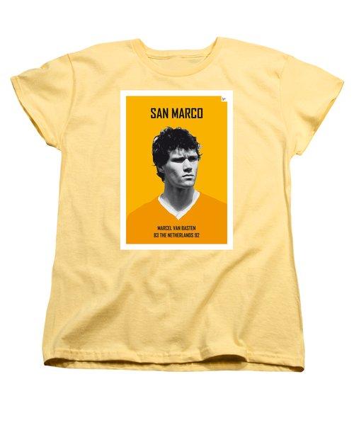 My Van Basten Soccer Legend Poster Women's T-Shirt (Standard Cut) by Chungkong Art