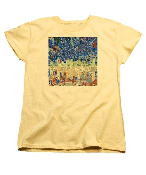 Nashville Skyline Abstract 9 Women's T-Shirt (Standard Cut) by Bekim Art