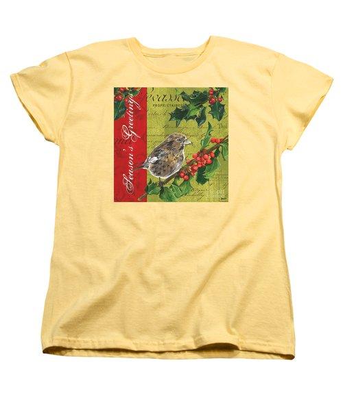 Peace On Earth 1 Women's T-Shirt (Standard Cut) by Debbie DeWitt
