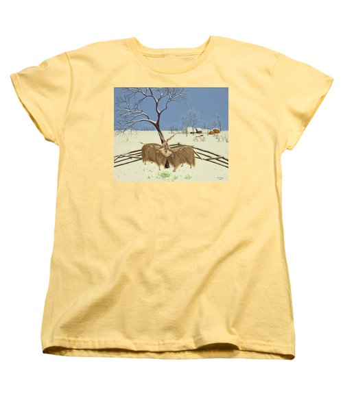 Spring In Winter Women's T-Shirt (Standard Cut) by Magdolna Ban