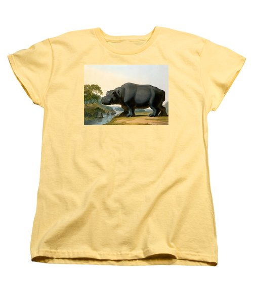 The Hippopotamus, 1804 Women's T-Shirt (Standard Cut) by Samuel Daniell