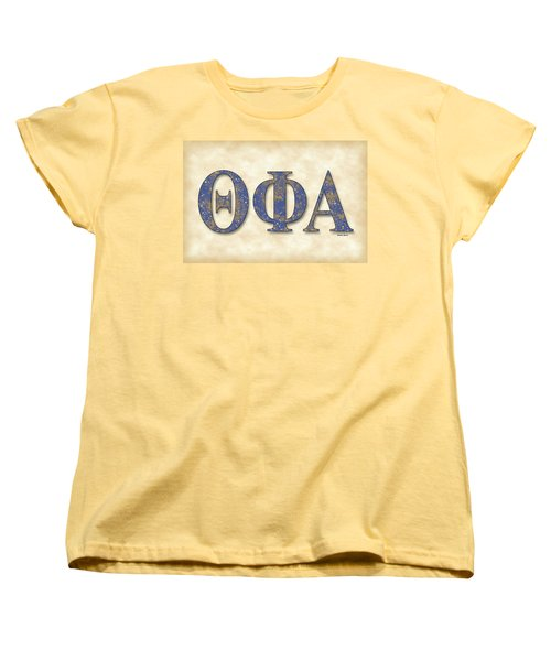 Theta Phi Alpha - Parchment Women's T-Shirt (Standard Cut) by Stephen Younts