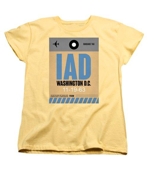 Washington D.c. Airport Poster 3 Women's T-Shirt (Standard Cut) by Naxart Studio