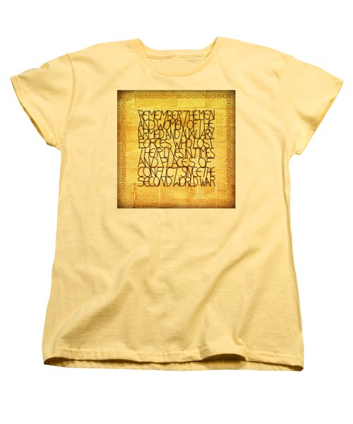 Westminster Military Memorial Women's T-Shirt (Standard Cut) by Stephen Stookey
