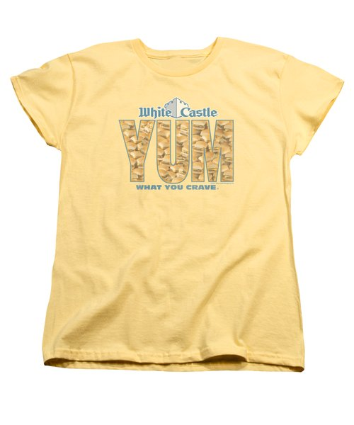 White Castle - Yum Women's T-Shirt (Standard Cut) by Brand A