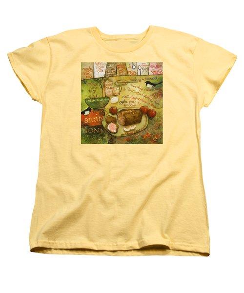 Irish Brown Bread Women's T-Shirt (Standard Cut) by Jen Norton