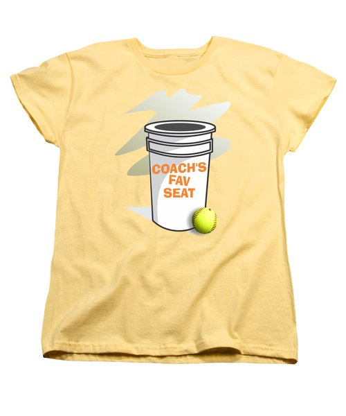 Coach's Favorite Seat Women's T-Shirt (Standard Cut) by Jerry Watkins