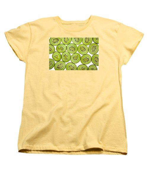 Kiwifruit Women's T-Shirt (Standard Cut) by Nailia Schwarz