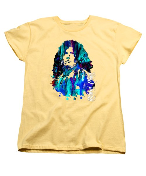 Robert Plant Collection Women's T-Shirt (Standard Cut) by Marvin Blaine