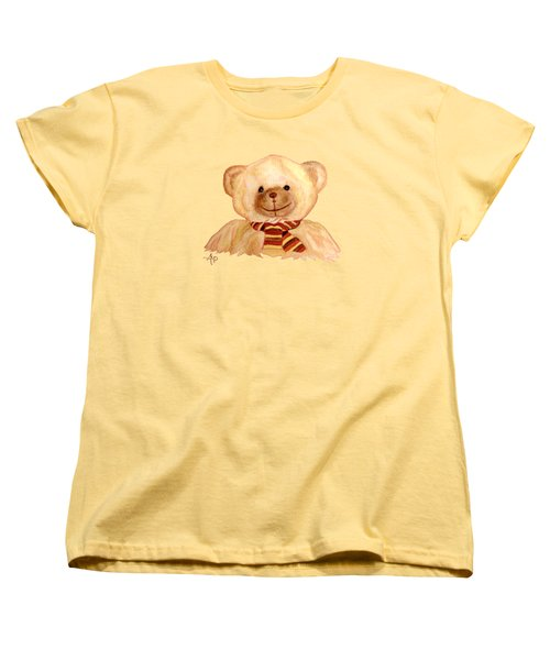 Cuddly Bear Women's T-Shirt (Standard Cut) by Angeles M Pomata