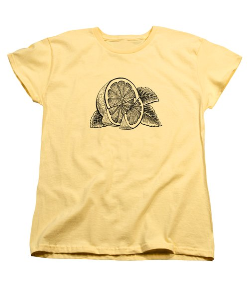 Lemon Women's T-Shirt (Standard Cut) by Irina Sztukowski